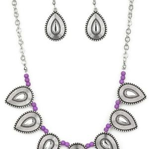 TERRA TRAILBLAZER PURPLE NECKLACE/EARRING SET